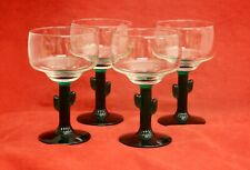 Libbey Cactus Stem 4 Margarita Glass Clear Green Stem 16 oz.