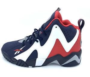 Reebok Kamikaze II USA Basketball Shoes Red White Blue FV9295 Size 8.5 Men's