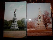 BRIDGEPORT CT - CIVIL WAR - SOLDIERS MONUMENT - OLD Postcard plus MODERN PHOTO