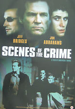 Jeff Bridges SCENES OF THE CRIME (2000)  Original UK video release poster