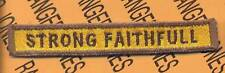 """350th Armored """"STRONG FAITHFULL"""" TANK TAB patch"""
