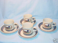4 Epoch Coffee/Tea Mugs W/Saucers American Duck Decoy