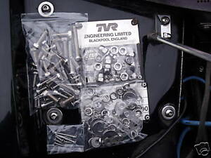 TVR CHIMAERA,AND GRIFFITH STAINLESS STEEL, NUTS BOLTS SCREWS ,UNDERBONNET KIT