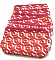Lot of 8: Clinique Cosmetic Makeup Bag Zipper Pouch Design by Jonathan Adler