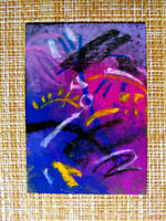 ACEO original pastel painting outsider folk art brut #010270 abstract surreal