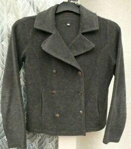 ( Ref 6326 ) Marks & Spencer - Size M UK 12 14 - Grey Long Sleeve Jacket / Coat