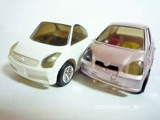 Choro Q TAKARA SKYLINE COUPE (#63) and TOYOTA VITZ HG (#59) USED Pull Back F/S
