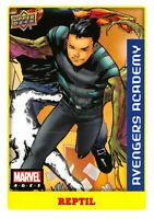 Marvel Ages 2021 (UD) LOW SERIES STICKER PARALLEL BASE Card #19 / REPTIL