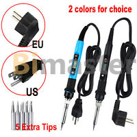 80W Electric Soldering Iron Gun Digital Hand Welding Tool Solder Wire 110V 220V