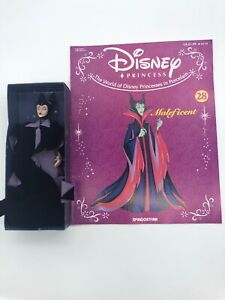 Disney DeAgostini Porcelain Doll 2004 Maleficent Sleeping Beauty #25/50 w Book