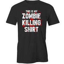 This Is My Zombie Killing Shirt T-Shirt Walking Dead Apocalypse Halloween Costum
