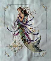 "New Completed finished cross stitch needlepoint""MERMAID""home decor gifts"