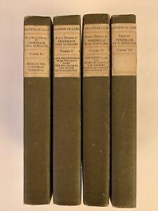 Historical Dramas Friedrich Von Schiller Early Poems 4 Volumes Edition De Luxe