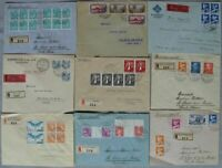 s2054) Schweiz 34 Belege an Maurice Burrus 30er Jahre - viele Einschreiben + MeF