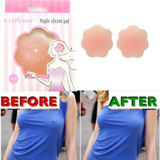 4X Silicone Nipple Covers Invisible Bra Stick Petal Reusable Self Adhesive