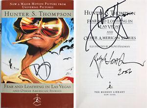 Hunter S. Thompson, Depp & Steadman Signed Fear & Loathing In Las Vegas Book BAS