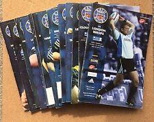 13 Bath Rugby Programmes 2002-2003 Season