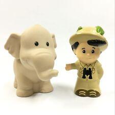 2x Fisher Price Little People Jungle Tree House Figure Boy & Animal elephant toy