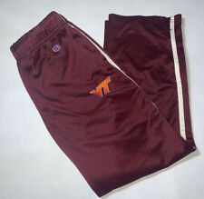Vintage Champion Fieldhouse Red White Track Sweatpants Mens Large Virginia Tech