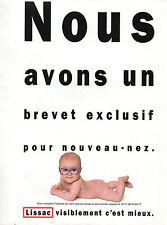 Publicité 1989  LISSAC lunette opticien optique enfants bébé
