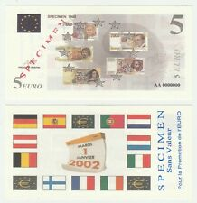 France 5 Euro 1998 UNC Specimen Test Note Banknote