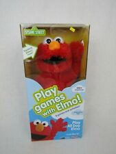 Play All Day Elmo Interactive Doll Soft Stuffed Play Games Electronic New