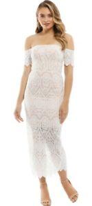 Elle Zeitoune White Lace Emmanuelle Dress Size 8