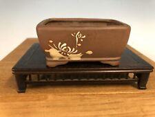 "Unique Style  Shohin Size Bonsai Tree Pot Made By The Tosui Kiln 3 3/4"""