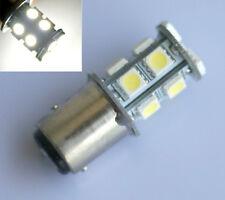2 x White Car LED S25 1157/BAY15D 5050 Dual Indicator Light Bulb Lamp 13 SMD