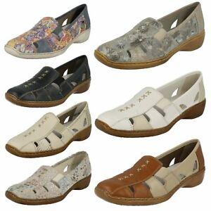 SALE Ladies Rieker Slip On Casual Summer Shoes Cut Out Detail 41385