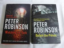 Peter Robinson x2 Hardbacks - Watching The Dark, Before The Poison - GOOD