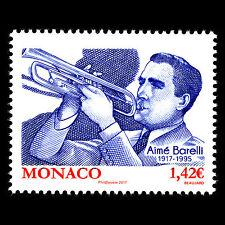 "Monaco 2017 - Birth of Aimé Barelli ""1917-1995"" Music Instruments - MNH"