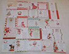"""25 Hunkydory Christmas Card Inserts With Festive Verses (a little under 5""""x5"""")"""
