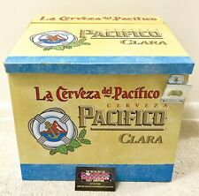 Pacifico Clara Cerveza Beer Metal Cooler Ice Chest - Excellent Condition Rare!