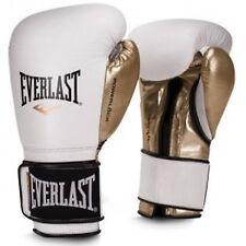 Everlast 14oz Men's Powerlock Hook/Loop Gloves White-Gold P00000725