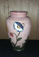 """Antique Japanese Hand Painted Vase, 12"""""""