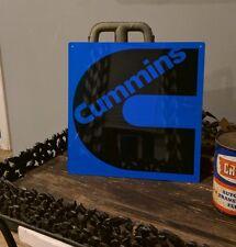 Cummins Diesel Sign Turbo Truck Mechanic Garage Repair Shop Black Blue 50005