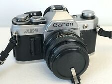 Canon AE-1 35mm Film Camera w/ 50mm F1.8 Lens Tested, New Battery and Strap