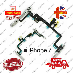 iPhone 7 Power Flex Cable Volume Buttons Mute Switch Mic & Flash With Brackets