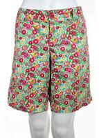 LILLY PULITZER Multicolored Cotton Floral Print Bermuda Shorts Sz 10