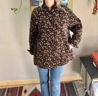 70s vintage women's floral velvet quilted mandarin collar jacket boho prairie hi