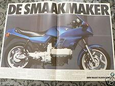 A173- BMW K100 ADD POSTER 1984 MOTORRAD BLUE BIKE