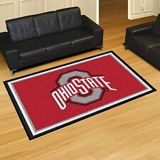 Ohio State Buckeyes 5' X 8' Decorative Ultra Plush Carpet Area Rug