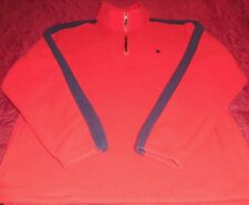 "Mens ""Fila"" 1/4 Zip L/S Run Jog Train Leisure Red Fleece Pullover Sz Xl-Reduced"