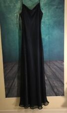 Betsy and Adam Silk Black Long Formal Cocktail Party Dress Size Tall 10
