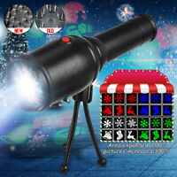Moving Christmas Projector Lamp LED Light Snowflake Outdoor Landscape Decoration