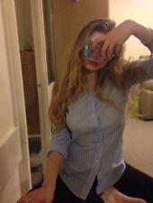 Ralph Lauren Casual Blue & White Cotton Shirt Size M NEW RRR £110