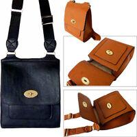 Navy Blue Twist Turn Lock Faux Leather Cross Body Messenger Shoulder Bag Handbag