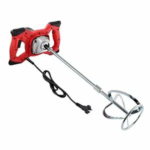2100W Electric Handheld Concrete Mixer Drill,Portable Cement Stirrer with Rod
