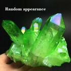 Naturel Vert Cristal Quartz Citrine Grappe Minéral Spécimen Guérison Decor Gift
